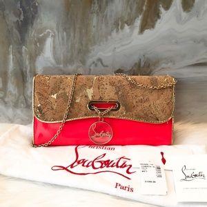 627f9ec46a0 Christian Louboutin Neon Cork Riviera Clutch Bag